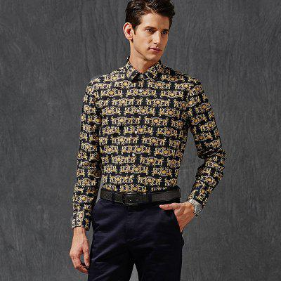 Men Cultivating Business Casual Print ShirtMens Shirts<br>Men Cultivating Business Casual Print Shirt<br><br>Collar: Turn-down Collar<br>Material: Cotton<br>Package Contents: 1 x Shirt<br>Shirts Type: Casual Shirts<br>Sleeve Length: Full<br>Weight: 0.4000kg