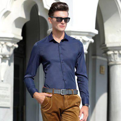 Young Business Casual Long-Sleeved ShirtMens Shirts<br>Young Business Casual Long-Sleeved Shirt<br><br>Collar: Turn-down Collar<br>Material: Cotton<br>Package Contents: 1 x Shirt<br>Shirts Type: Formal Shirts<br>Sleeve Length: Full<br>Weight: 0.3000kg