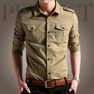 Mens Self-Cultivation Cotton Solid Color Collar ShirtMens Shirts<br>Mens Self-Cultivation Cotton Solid Color Collar Shirt<br><br>Collar: Turn-down Collar<br>Material: Cotton<br>Package Contents: 1 x Shirt<br>Shirts Type: Casual Shirts<br>Sleeve Length: Full<br>Weight: 0.3000kg