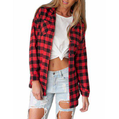 Casual Loose Plaid Shirt Irregular Long-Sleeved ShirtBlouses<br>Casual Loose Plaid Shirt Irregular Long-Sleeved Shirt<br><br>Collar: Turn-down Collar<br>Elasticity: Micro-elastic<br>Fabric Type: Worsted<br>Material: Polyester, Cotton Blends<br>Package Contents: 1 x Shirt<br>Pattern Type: Others<br>Shirt Length: Regular<br>Sleeve Length: Long Sleeves<br>Style: Fashion<br>Weight: 0.2500kg