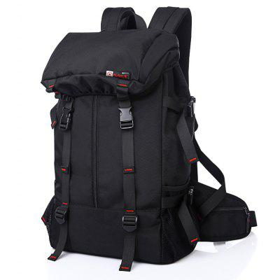 Outdoor Double Shoulder Bag Outdoor Light Mountain Bag Waterproof Male BackpackBackpacks<br>Outdoor Double Shoulder Bag Outdoor Light Mountain Bag Waterproof Male Backpack<br><br>Backpack Capacity: 50L<br>Capacity: Above 40L<br>Color: Black<br>Features: Ultra Light, molle system, Water Resistance, Foldable, Laptop Bag<br>For: Traveling, Adventure, Hiking, Camping, Cycling, Fishing, Climbing<br>Material: Oxford Fabric<br>Package Contents: 1 x  Backpack<br>Package size (L x W x H): 34.00 x 27.00 x 63.00 cm / 13.39 x 10.63 x 24.8 inches<br>Package weight: 0.8800 kg<br>Product size (L x W x H): 34.00 x 17.00 x 60.00 cm / 13.39 x 6.69 x 23.62 inches<br>Type: Backpack