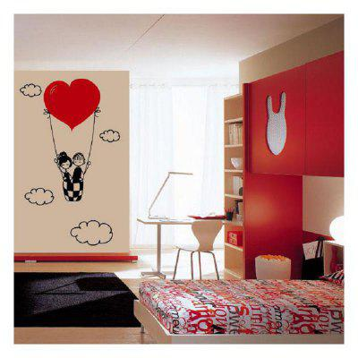 DSU Lovers Hold Hot Balloons with Love and Love Bedroom Wall Stickers DIY Home Wedding Decor Stickers 249723901