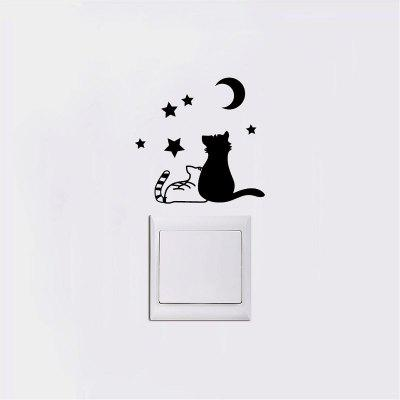 DSU   Creative Cats Silhouette Switch Sticker Cartoon Vinyl Wall Stickers for Kids RoomWall Stickers<br>DSU   Creative Cats Silhouette Switch Sticker Cartoon Vinyl Wall Stickers for Kids Room<br><br>Brand: DSU<br>Function: Light Switch Stickers, Fridge Sticker<br>Material: Vinyl(PVC)<br>Package Contents: 1 x Wall Sticker<br>Package size (L x W x H): 13.00 x 2.00 x 2.00 cm / 5.12 x 0.79 x 0.79 inches<br>Package weight: 0.0600 kg<br>Product size (L x W x H): 10.00 x 10.00 x 0.10 cm / 3.94 x 3.94 x 0.04 inches<br>Product weight: 0.0300 kg<br>Quantity: 1<br>Subjects: Fashion,Others<br>Suitable Space: Living Room,Bedroom<br>Type: Plane Wall Sticker