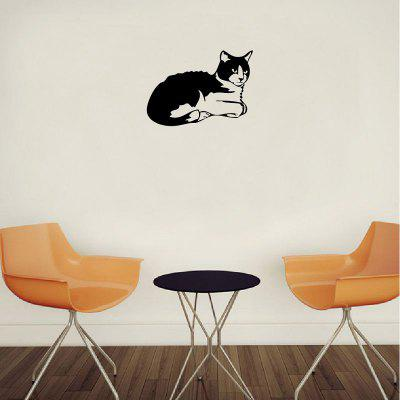 DSU Cute Cat Silhouette Vinyl Switch Sticker Adesivi animali da parete per bambini