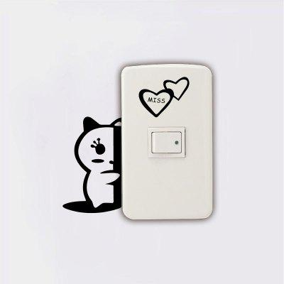 DSU Cute Kitten Light Switch Sticker Creative Cartoon Animal Vinyl Cat Wall StickerWall Stickers<br>DSU Cute Kitten Light Switch Sticker Creative Cartoon Animal Vinyl Cat Wall Sticker<br><br>Brand: DSU<br>Function: Light Switch Stickers, 3D Effect<br>Material: Vinyl(PVC)<br>Package Contents: 1 x Wall Sticker<br>Package size (L x W x H): 10.00 x 3.00 x 3.00 cm / 3.94 x 1.18 x 1.18 inches<br>Package weight: 0.0600 kg<br>Product size (L x W x H): 12.00 x 5.00 x 0.10 cm / 4.72 x 1.97 x 0.04 inches<br>Product weight: 0.0300 kg<br>Quantity: 1<br>Subjects: Fashion,Others<br>Suitable Space: Living Room,Bedroom<br>Type: Plane Wall Sticker