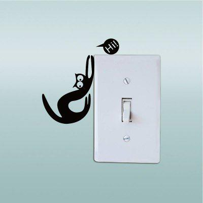 Cat-126  Funny Cat Light Switch Sticker Creative Cartoon Cat Vinyl Wall Sticker for KidsWall Stickers<br>Cat-126  Funny Cat Light Switch Sticker Creative Cartoon Cat Vinyl Wall Sticker for Kids<br><br>Brand: DSU<br>Function: Light Switch Stickers, Fridge Sticker<br>Material: Vinyl(PVC)<br>Package Contents: 1 x Wall Sticker<br>Package size (L x W x H): 10.00 x 2.00 x 2.00 cm / 3.94 x 0.79 x 0.79 inches<br>Package weight: 0.0600 kg<br>Product size (L x W x H): 8.00 x 6.00 x 0.10 cm / 3.15 x 2.36 x 0.04 inches<br>Product weight: 0.0300 kg<br>Quantity: 1<br>Subjects: Fashion,Others<br>Suitable Space: Living Room,Bedroom<br>Type: Plane Wall Sticker