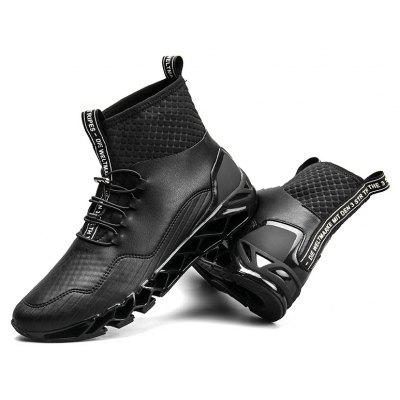 "Fashion MenS Personality Sport High Top Outdoor Shoes Flats Leisure Casual SneakersMen's Sneakers<br>Fashion MenS Personality Sport High Top Outdoor Shoes Flats Leisure Casual Sneakers<br><br>Boot Height: Ankle<br>Boot Type: Fashion Boots<br>Closure Type: Slip-On<br>Embellishment: None<br>Gender: For Men<br>Heel Hight: Flat(0-0.5"")<br>Heel Type: Low Heel<br>Outsole Material: Rubber<br>Package Contents: 1?Shoes(pair)<br>Pattern Type: Solid<br>Season: Summer, Winter, Spring/Fall<br>Shoe Width: Medium(B/M)<br>Toe Shape: Round Toe<br>Upper Material: PU<br>Weight: 1.2000kg"