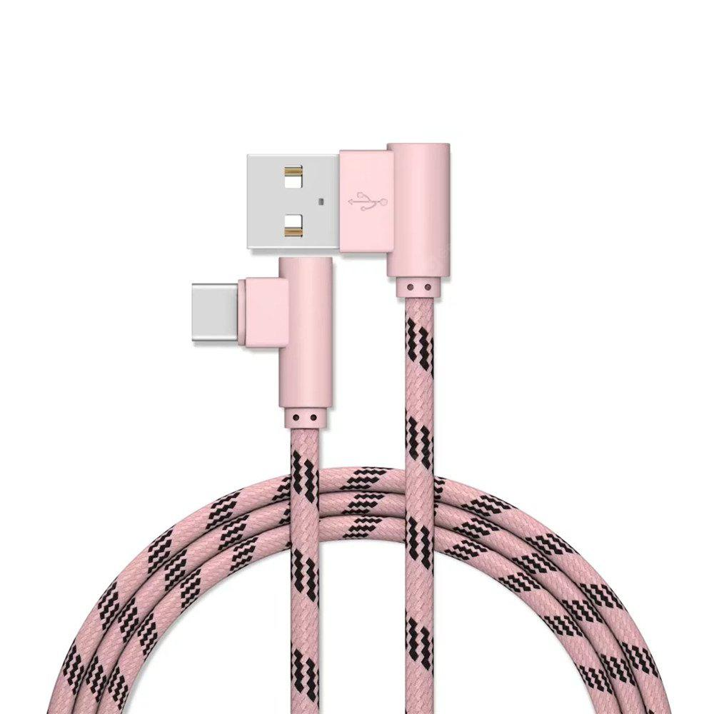 USB Cable Type-C Devices Fast Charger Cables Mobile Phone Charging Data Adapt ROSE GOLD