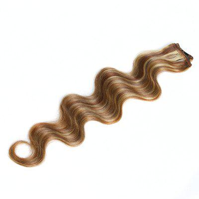 One Piece Body Wave Secret Invisible Hairpiece Clip in Hair Extensions 6 Clip 20g 18inch