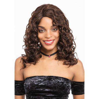 Remy cheveux humains dentelle frotnal perruque cheveux humains ondulés mi-longueur perruque 16 pouces SLWHFR-RY17
