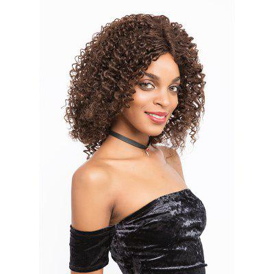 Remy cheveux humains dentelle frotnal perruque cheveux humains ondulés mi-longueur perruque 14 pouces SLWHFR-RY18