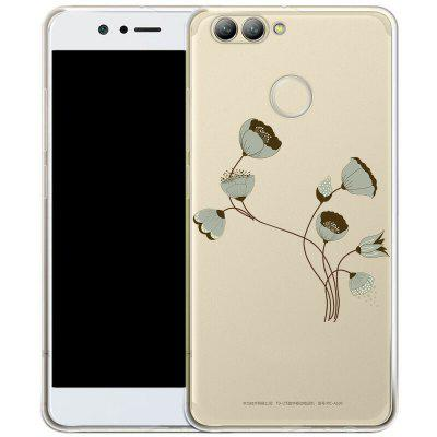 Handytasche für HuaWei Nova 2 Plus TPU Transparente Soft Shell Painted Lotus Muster