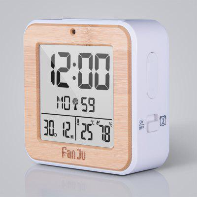 FJ3533 LCD Digital Alarm Clock with Indoor Temperature and Humidity,Dual Alarm,Battery Operated,Snooze,Date,AlarmClocks<br>FJ3533 LCD Digital Alarm Clock with Indoor Temperature and Humidity,Dual Alarm,Battery Operated,Snooze,Date,Alarm<br><br>Battery Quantity: 2<br>Battery Type: AA<br>Brand: FanJu<br>Color: Others<br>Material: Plastic<br>Model: FJ3533WOOD<br>Package Contents: 1 x alarm clock,1 x user manual<br>Package Quantity: 1<br>Package size (L x W x H): 10.00 x 5.00 x 10.00 cm / 3.94 x 1.97 x 3.94 inches<br>Package weight: 0.1180 kg<br>Product size (L x W x H): 9.00 x 4.00 x 9.00 cm / 3.54 x 1.57 x 3.54 inches<br>Shape: Rectangular<br>Style: Fashion<br>Theme: Others<br>Time Display: Digital<br>Type: Alarm Clock