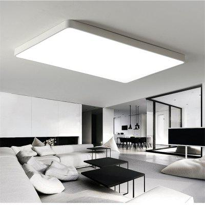 white frame 48 watts super thin modern simple bedroom living room led ceiling lamp 65 x - Living Room Led Ceiling Lights