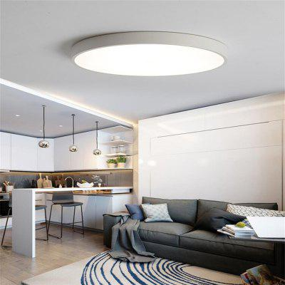 White Frame 36 Watts Three Color North European Ultra Thin Modern Concise Hall Round Led Ceiling Lamp 50 Cm 1 PC