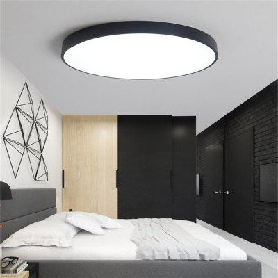 Black Frame 48 Watts Three Color North European Ultra Thin Modern Concise Hall Round Led Ceiling Lamp 60 Cm 1 PC