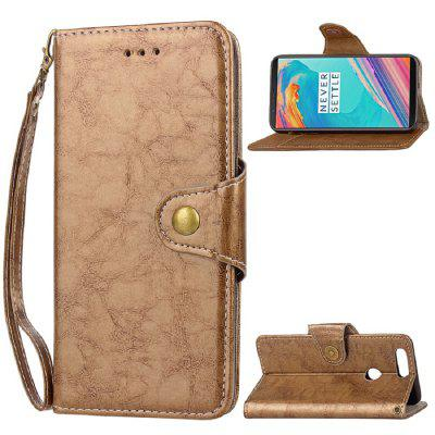 Case Fundas Wallet Style Coque PU Leather Phone Protective Back Cover For Oneplus 5T