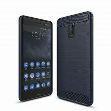 For Nokia 6 Case Cover Carbon Fiber Luxury Silicone Soft Texture Back Phone Cases