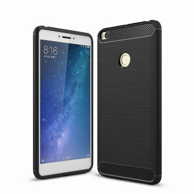 For Xiaomi Max 2 Case Cover Carbon Fiber Luxury Silicone Soft Texture Back Phone Cases