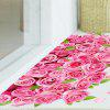 Adesivo per camera da letto Decor Decalcomanie Romantic Love 3D Rose Flower Floor Wall - ROSA