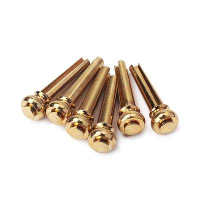 Set of 6 Pure Copper Bridge Pins Acoustic Guitar Replacement PartsGuitar Parts<br>Set of 6 Pure Copper Bridge Pins Acoustic Guitar Replacement Parts<br><br>Materials: Copper<br>Package Contents: 6 x Bridge Pins<br>Package size: 9.00 x 7.00 x 2.00 cm / 3.54 x 2.76 x 0.79 inches<br>Package weight: 0.0300 kg<br>Product size: 7.00 x 5.00 x 1.00 cm / 2.76 x 1.97 x 0.39 inches<br>Suitable for: Guitar, Acoustic Guitar, Folk Guitar<br>Type: Other
