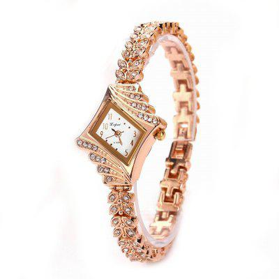 Lvpai P024 Women Rectangle Alloy Band Al quarzo