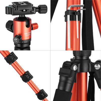 Mactrem  Camera Tripod 62.5  Lightweight Alluminum Alloy DSLR Tripod Ball Head Travel Tripod Detachable MonopodTripods<br>Mactrem  Camera Tripod 62.5  Lightweight Alluminum Alloy DSLR Tripod Ball Head Travel Tripod Detachable Monopod<br><br>Accessories type: Ball shaped Tripod head<br>Compatible with: Projector, DSLR, Digital Camera, Mobile phone<br>Folded Length (cm): 43<br>Leg Sections: 4<br>Material: Magnesium Alloy<br>Max Height (cm): 162<br>Max Load (kg): 10-15kg<br>Minimum Height (cm): 55<br>Model: CT62<br>Package Contents: 1 x Tripod, 1 x Carrying bag, 1 x Multi-language User Manual<br>Package size (L x W x H): 48.00 x 13.00 x 12.00 cm / 18.9 x 5.12 x 4.72 inches<br>Package weight: 1.8600 kg<br>Production type: Tripod head,Tripod,Tripod and Tripod head,Monopod,Pan-tilt<br>Tripod Head Type: Ball Head