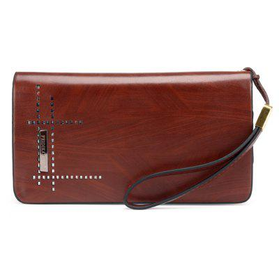 Men'S Casual Clutch Pocket Waterproof Long Hollow Wallet