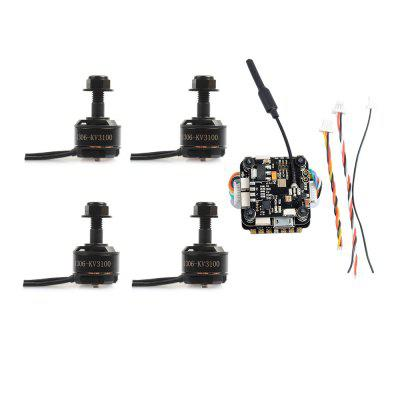 SKYSTARS  F3 Flight Controller BLHeli - S 20A ESC 1306 Brushless Motor 150mW TransmitterMotor<br>SKYSTARS  F3 Flight Controller BLHeli - S 20A ESC 1306 Brushless Motor 150mW Transmitter<br><br>Package Contents: F3 Flight Controller x 1, 1306 Motor x 4, 20A ESC x 1, Transmitter x 1, Cable x 4, Other Parts x 1 Set<br>Package size (L x W x H): 11.00 x 11.00 x 3.00 cm / 4.33 x 4.33 x 1.18 inches<br>Package weight: 0.0650 kg<br>Type: ESC, Flight Controller, Motor, Transmitter Board