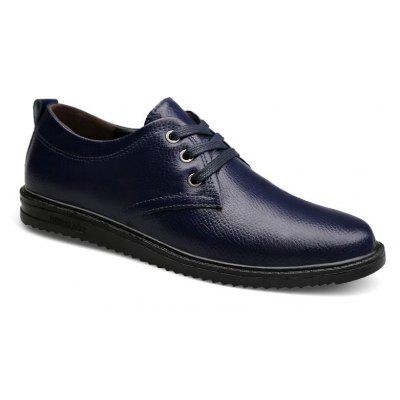 Four Seasons Leather Rubber Business Casual Shoes