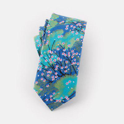 Narrow Version of Men'S Casual Cotton Tie 6CM