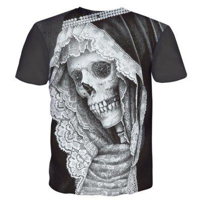 Street Fashion Personality and Creative Lace Skull Head 3D Printed T-Shirt Hot StyleMens T-shirts<br>Street Fashion Personality and Creative Lace Skull Head 3D Printed T-Shirt Hot Style<br><br>Collar: Round Neck<br>Material: Polyester<br>Package Contents: 1xT-shirt<br>Pattern Type: Skulls<br>Sleeve Length: Short Sleeves<br>Style: Fashion<br>Weight: 0.2000kg