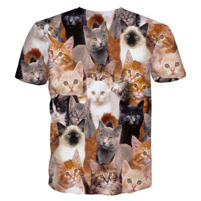 Street Fashion Personality and Creative Cat 3D Printed Short-Sleeved T-Shirt Hot StyleMens T-shirts<br>Street Fashion Personality and Creative Cat 3D Printed Short-Sleeved T-Shirt Hot Style<br><br>Collar: Round Neck<br>Material: Polyester<br>Package Contents: 1xT-shirt<br>Pattern Type: Print<br>Sleeve Length: Short Sleeves<br>Style: Fashion<br>Weight: 0.2000kg