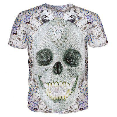 Street Fashion Personality Wacky Creative Diamond Skull 3D Printed T-Shirt Hot StyleMens T-shirts<br>Street Fashion Personality Wacky Creative Diamond Skull 3D Printed T-Shirt Hot Style<br><br>Collar: Round Neck<br>Material: Polyester<br>Package Contents: 1xT-shirt<br>Pattern Type: Print<br>Sleeve Length: Short Sleeves<br>Style: Fashion<br>Weight: 0.2000kg