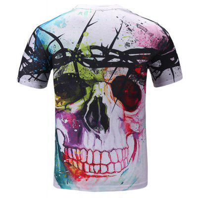 Summer Fashion Leisure Character Creative Skull 3D Digital Printed Short-Sleeved T-Shirt Hot StyleMens T-shirts<br>Summer Fashion Leisure Character Creative Skull 3D Digital Printed Short-Sleeved T-Shirt Hot Style<br><br>Collar: Round Neck<br>Material: Polyester<br>Package Contents: 1xT-shirt<br>Pattern Type: Skulls<br>Sleeve Length: Short Sleeves<br>Style: Fashion<br>Weight: 0.2000kg
