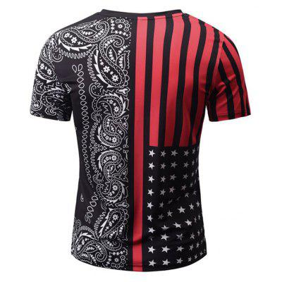 Summer Fashion Casual Creative Collision Color Stripe 3D Digital Printed Short-Sleeved T-Shirt Hot StyleMens T-shirts<br>Summer Fashion Casual Creative Collision Color Stripe 3D Digital Printed Short-Sleeved T-Shirt Hot Style<br><br>Collar: V-Neck<br>Material: Polyester<br>Package Contents: 1xT-shirt<br>Pattern Type: Print<br>Sleeve Length: Short Sleeves<br>Style: Fashion<br>Weight: 0.2000kg