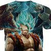 Fashion Casual Creative Cartoon Character Cartoon Character 3D Printed T-Shirt Hot Style - BLUE