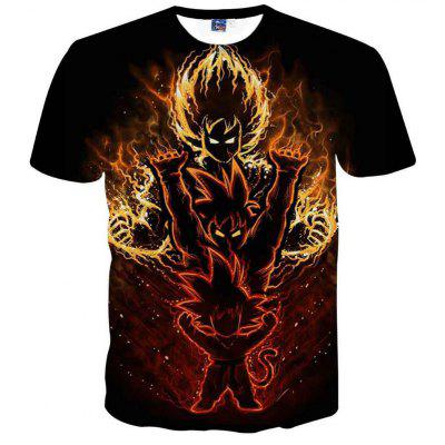 Fashion and Leisure Character Creative Cartoon Character 3D Digital Print T-Shirt Hot Style