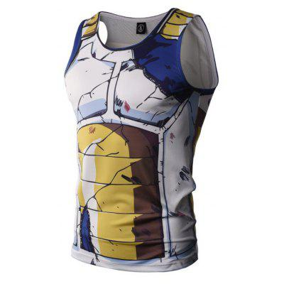 Fashion and Leisure Creative Cartoon and Animation Color 3D Digital Printed Vest Hot Style