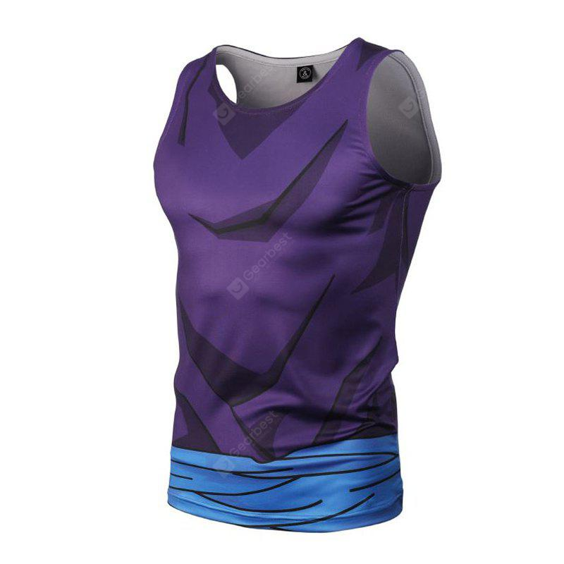 Fashion and Leisure Personality Creative Collision Color 3D Digital Print Vest Hot Style