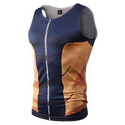 Street Fashion Casual Creative 3D Digital Printed Vest Hot Style