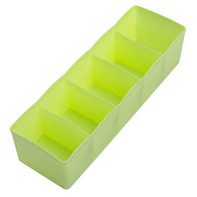 Buy GREEN Plastic Drawer Storage Box Home Desktop Socks Underwear Tie Grid Storage Box for $2.78 in GearBest store