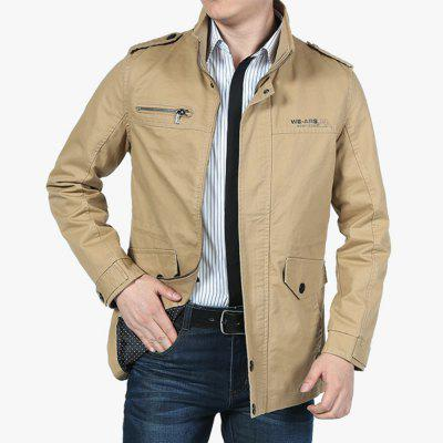 Spring Autumn Casual Jacket Cotton Stand Collar MenS JacketsMens Jackets &amp; Coats<br>Spring Autumn Casual Jacket Cotton Stand Collar MenS Jackets<br><br>Clothes Type: Jackets<br>Collar: Stand Collar<br>Fabric Type: Broadcloth<br>Material: Cotton<br>Package Contents: 1XJacket<br>Season: Spring, Fall<br>Shirt Length: Regular<br>Sleeve Length: Long Sleeves<br>Style: Casual<br>Weight: 0.7100kg
