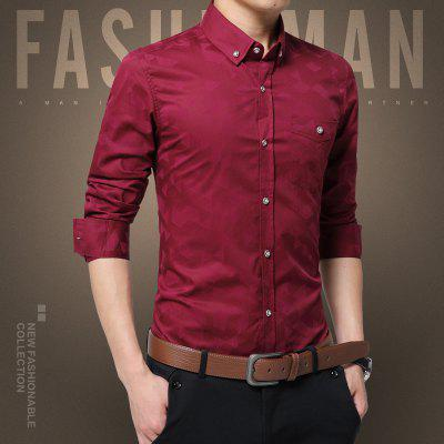 Spring MenS Shirt Business Leisure Cotton Fashion Dark Print Pure Color Long Sleeved Shirt TideMens Shirts<br>Spring MenS Shirt Business Leisure Cotton Fashion Dark Print Pure Color Long Sleeved Shirt Tide<br><br>Collar: Turn-down Collar<br>Material: Cotton<br>Package Contents: 1xshirt<br>Shirts Type: Casual Shirts<br>Sleeve Length: Full<br>Weight: 0.5000kg