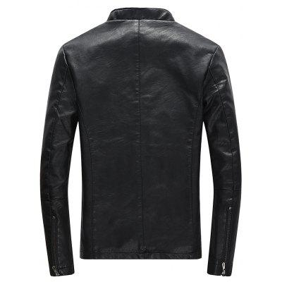 MenS Winter Fashion Casual Jacket Handsome Leather Coat Collar BaseballMens Jackets &amp; Coats<br>MenS Winter Fashion Casual Jacket Handsome Leather Coat Collar Baseball<br><br>Clothes Type: Leather &amp; Suede<br>Collar: Stand Collar<br>Material: Cotton, Polyester<br>Package Contents: 1xcoat<br>Season: Fall, Winter<br>Shirt Length: Regular<br>Sleeve Length: Long Sleeves<br>Style: Fashion<br>Weight: 0.8000kg