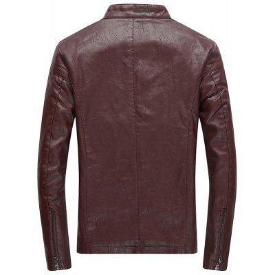MenS Winter Coat Casual Fashion Collar Jacket Pure Leather JacketMens Jackets &amp; Coats<br>MenS Winter Coat Casual Fashion Collar Jacket Pure Leather Jacket<br><br>Clothes Type: Leather &amp; Suede<br>Collar: Stand Collar<br>Material: Cotton, Polyester, Genuine Leather<br>Package Contents: 1xcoat<br>Season: Fall, Winter<br>Shirt Length: Regular<br>Sleeve Length: Long Sleeves<br>Style: Fashion<br>Weight: 0.8000kg