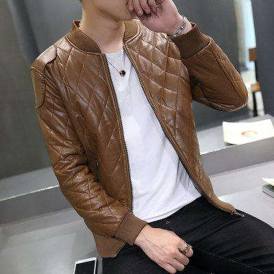 Winter Coat Casual Fashion Collar Pure Leather Baseball JacketMens Jackets &amp; Coats<br>Winter Coat Casual Fashion Collar Pure Leather Baseball Jacket<br><br>Clothes Type: Leather &amp; Suede<br>Collar: Stand Collar<br>Material: Cotton, Polyester, Genuine Leather<br>Package Contents: 1xcoat<br>Season: Fall, Winter<br>Shirt Length: Regular<br>Sleeve Length: Long Sleeves<br>Style: Fashion<br>Weight: 0.8000kg