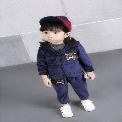 GirlS Spring Autumn Cartoon Flannel SuitGirls clothing sets<br>GirlS Spring Autumn Cartoon Flannel Suit<br><br>Collar: Hooded<br>Elasticity: Elastic<br>Material: Cotton, Cotton Blend<br>Package Contents: 1XClothes pants<br>Pattern Type: Character<br>Shirt Length: Regular<br>Sleeve Length: Full<br>Style: Leisure<br>Weight: 0.2000kg
