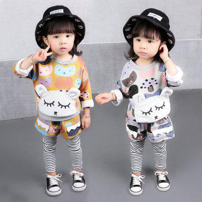Girl Spring Autumn Cartoon Pants Clothes Two PiecesGirls clothing sets<br>Girl Spring Autumn Cartoon Pants Clothes Two Pieces<br><br>Collar: Round Neck<br>Material: Cotton, Cotton Blend<br>Package Contents: 1X Clothes pants<br>Pattern Type: Character<br>Shirt Length: Regular<br>Sleeve Length: Full<br>Style: Sweet<br>Weight: 0.2000kg
