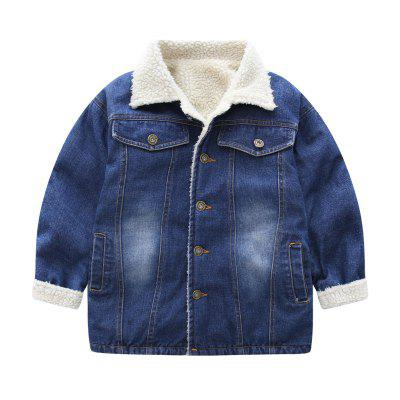 GirlS Cowboy Spring and Autumn Style Warm CoatGirls Outerwear<br>GirlS Cowboy Spring and Autumn Style Warm Coat<br><br>Closure Type: Single Breasted<br>Clothes Type: Padded<br>Collar: Turn-down Collar<br>Elasticity: Micro-elastic<br>Embellishment: Pockets<br>Fabric Type: Oxford<br>Material: Cotton<br>Package Contents: 1x Overcoat<br>Pattern Type: Others<br>Shirt Length: Regular<br>Sleeve Length: Full<br>Style: Leisure<br>Type: Wide-waisted<br>Weight: 0.2000kg